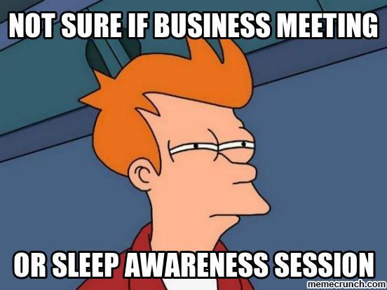 Zo val je niet in slaap tijdens je vergadering
